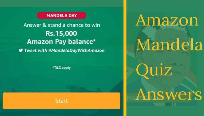 Amazon Mandela Day Quiz Answers: Win Rs.15,000 | Amazon Quiz
