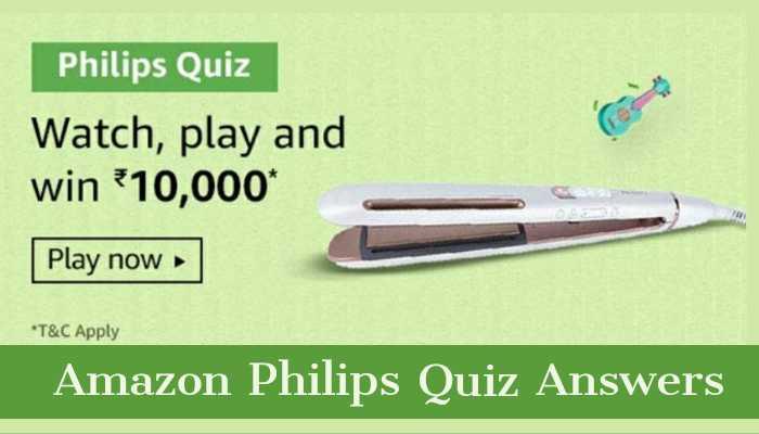 Amazon Philips Quiz Answers: Win Rs.10,000 | Amazon Quiz