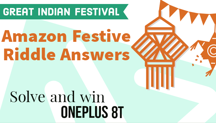 Amazon Special Edition Festive Riddles Solve Answers: Win Oneplus 8T