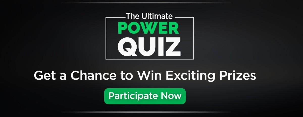 Flipkart the Ultimate Power Quiz: Win Rs.500 Flipkart Giftcard