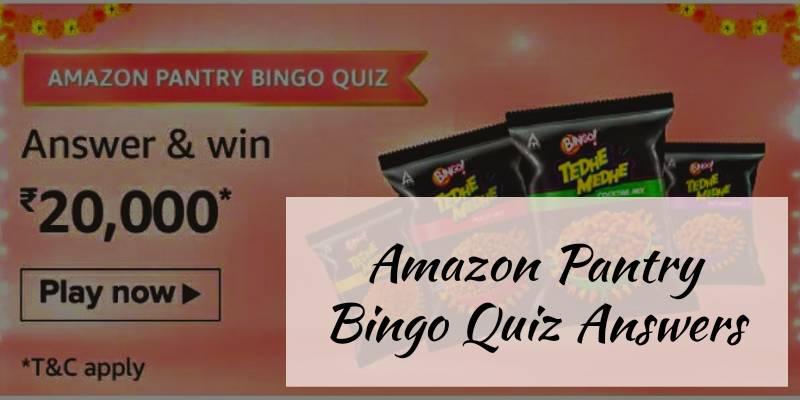 Amazon Pantry Bingo Quiz Answers: Win Rs.5,000 Amazon Pay Balance