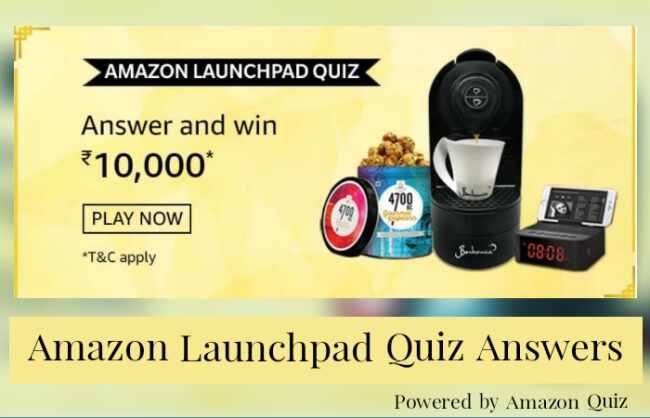 Amazon Launchpad Quiz Answers: Win 10,000 Pay Balance