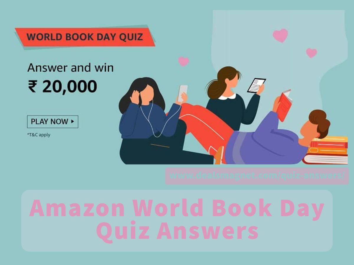 World Book Day Quiz Answers for Amazon Funzone: Win ₹20,000