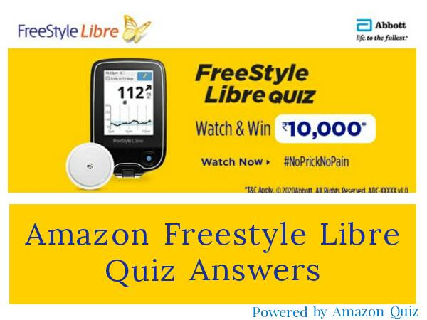 Amazon Freestyle Libre Quiz Answers- Win Rs.10,000