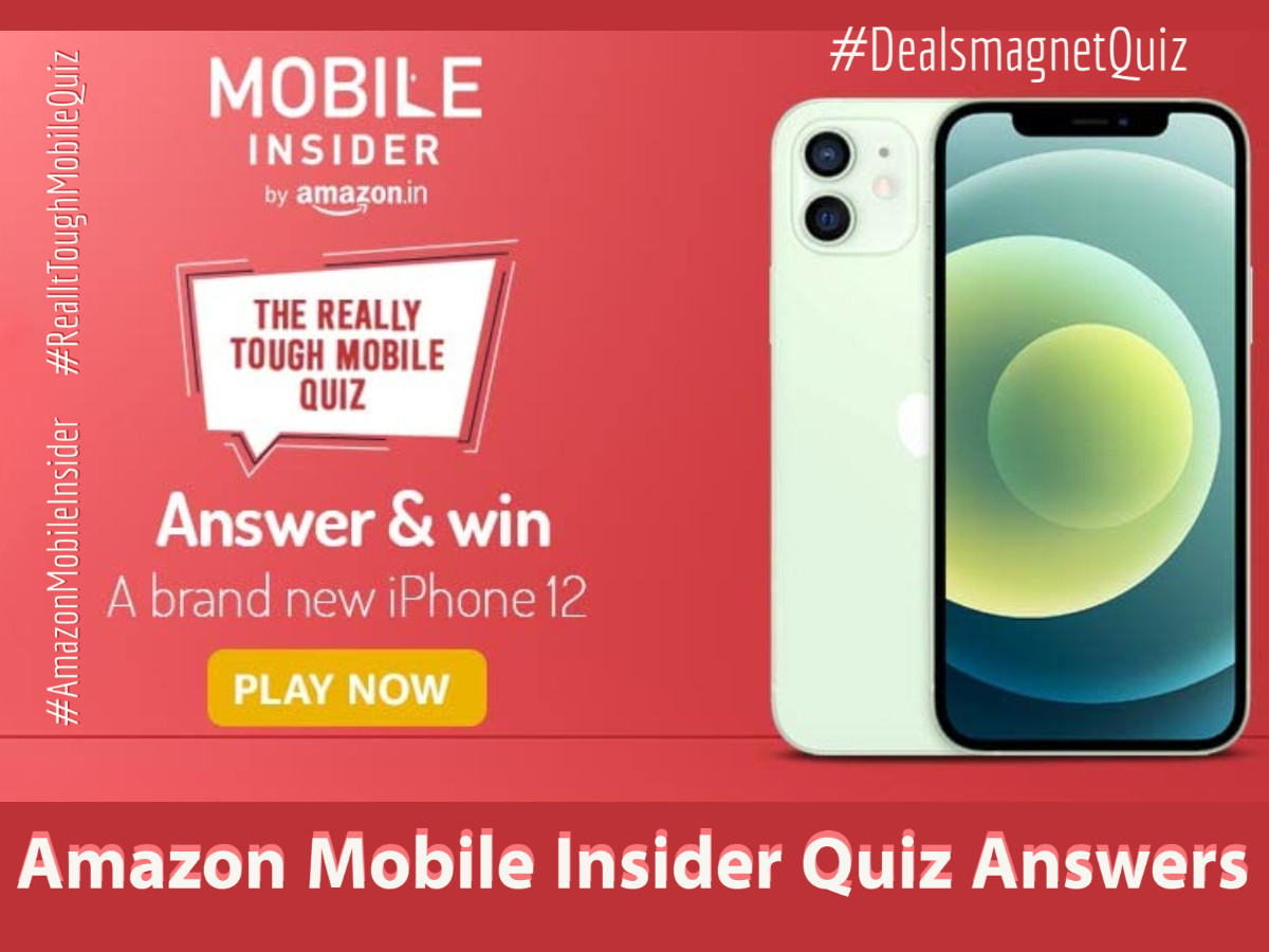 Mobile Insider Amazon Quiz Answers: Win Apple iPhone 12