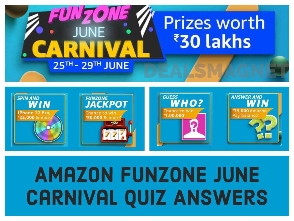 Funzone June Carnival Amazon Quiz Answers