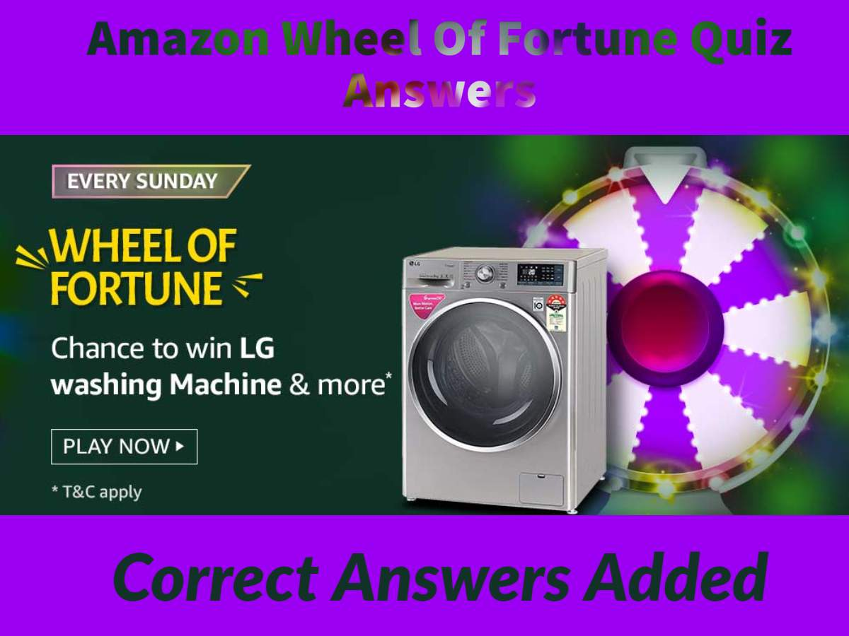 Amazon Wheel of Fortune Quiz Answers for 18th April 2021 - Win LG Washing Machine & More