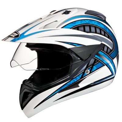 Studds Motocross D2 Helmet With Visor (White N2, M)