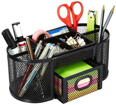 AmazonBasics Mesh Desk Organizer, Black