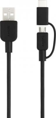 Sony CP-ABC150/BCWW 2 in 1 USB Type C Cable  (Compatible with Mobile Phone, Tablet, Desktop, Black, Sync and Charge Cabl