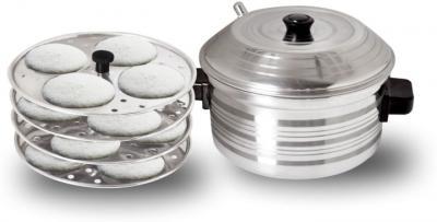 BMS Lifestyle 4-Plates Stainless Steel Idly Maker/Cooker (4-Plates, 16 Idlis) Standard Idli Maker