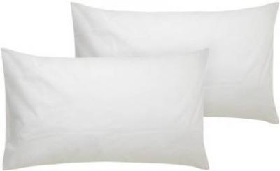PumPum Solid Bed/Sleeping Pillow Pack of 2  (White)