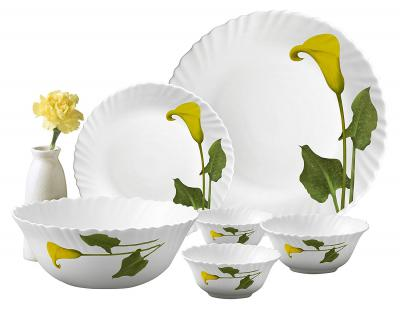 LaOpala Amber Lily Dinner Set, 27-Pieces