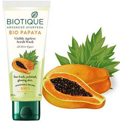 Biotique Bio-Papaya Visibly Ageless Scrub Wash for All Skin Types, 50ml