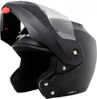 VEGA Crux Motorbike Helmet  (Black)