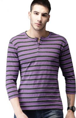 HERE&NOW Self Design Men T-Shirt