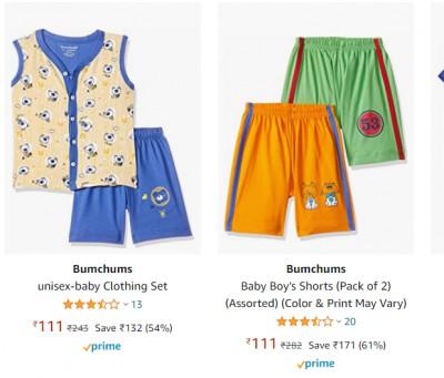 Bumchums Baby Boy's Cotton Clothing Set