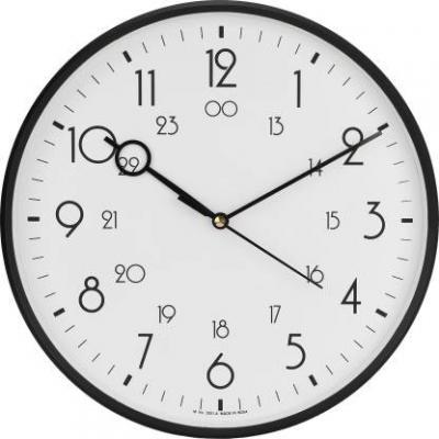 Precisio Analog 31 cm X 31 cm Wall Clock  (Black, With Glass)