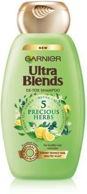 Garnier Ultra Blends Shampoo, 5 Precious Herbs