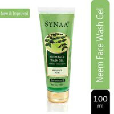 SYNAA Neem Face Wash Gel for Clear Skin- Purifying Neem Face Wash For Normal to Oily Skin - 100 ML