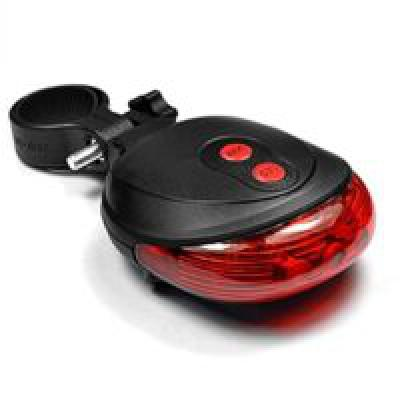 Aeoss Cycling Bike Bicycle 2 Laser Projector Red Lamps Beam and 3 LED Rear Tail Lights