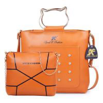 Speed X Fashion Womens/Girls Handbag Sling Bag Combo Tan