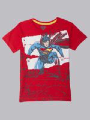 Superman By Kidsville Boys Graphic Print Cotton Blend T Shirt