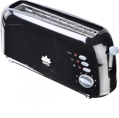 BMS Lifestyle Extra-Wide Slot Toaster with Defrost, Reheat and Cancel Functions, 7 Browning Levels, Dust Cap and Removab