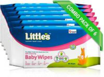 Littles Baby Wet Wipes 80 x 6pcs