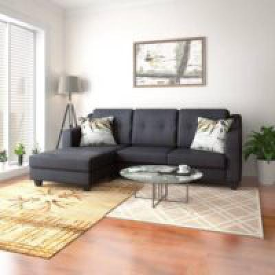 Perfect Homes Kotor Fabric 4 Seater  Sofa