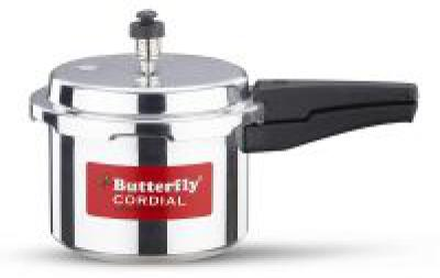 Butterfly Cordial Aluminium Non Induction Pressure Cooker, 3 litres, Silver