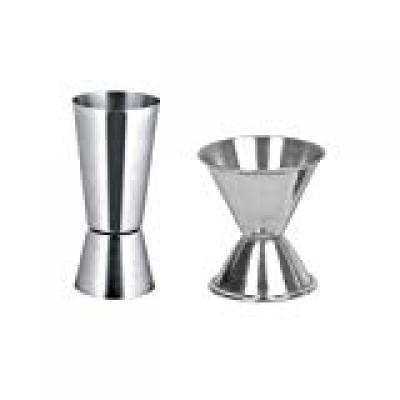Dynore Stainless Steel Peg Measure Set, 2-Pieces, Silver