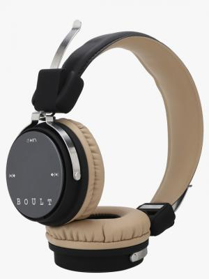 Boult Unisex Black Wireless Over Ear Headphones With Mic