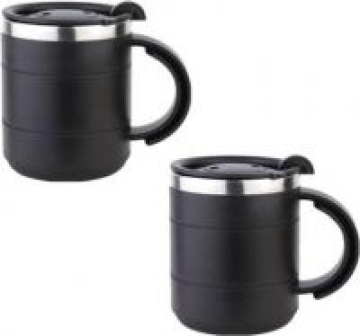 Tuelip Stainless Steel Black Stainless Steel Mug