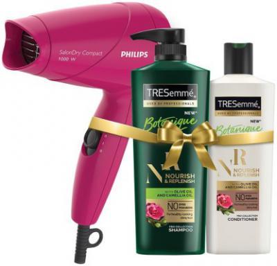 TRESemme Nourish & Replenish Shampoo and Conditioner Plus Philips Hair Dryer  (Set of 3)