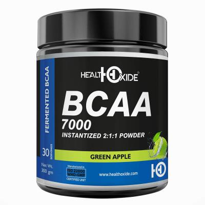 HealthOxide BCAA 7000 Amino Acid INSTANTIZED 2:1:1 POWDER - 300 gm (GREEN APPLE)