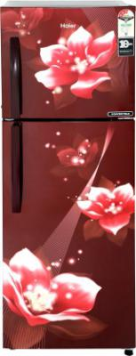 Haier 258 L Frost Free Double Door 3 Star Convertible Refrigerator  (Red Flower, HEF-25TRF)