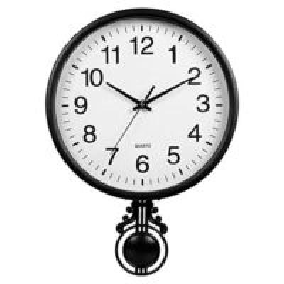 Efinito Gifts Design Plastic Pendulum Wall Clock (16-inch, Colour May Vary)