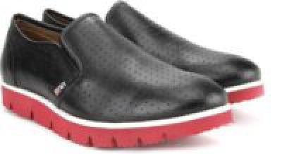 BLACK Color Arrow Loafers For Men