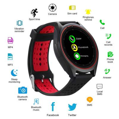 SAIELLIN V9 PRO Smartwatch with Bluetooth/Camera TF/SIM Card Slot for Android and iPhone Smartphones