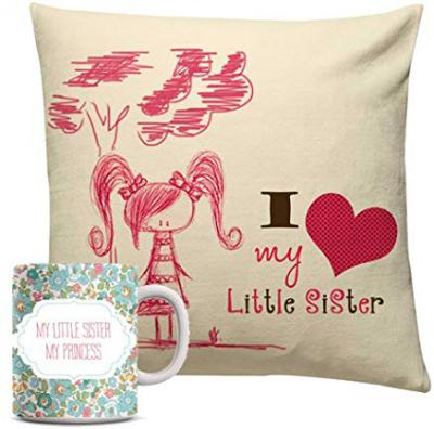 Rakhi Gifts - Cushion and Mug combo