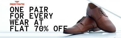 Red Tape Shoes at Flat 70% Off...