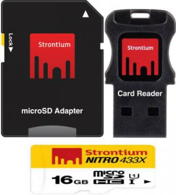 Strontium Nitro 16 GB SDHC Class 10 Memory Card  (With Adapter)