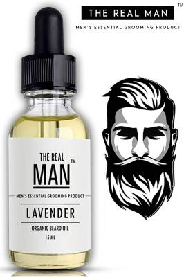The Real Man Lavender Oil 100 Percent Organic Beard and Moustache Oil, 15ml