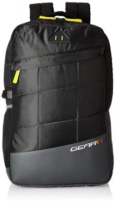 Gear 18 Ltrs Black Casual Backpack (BKPANGLE00001)