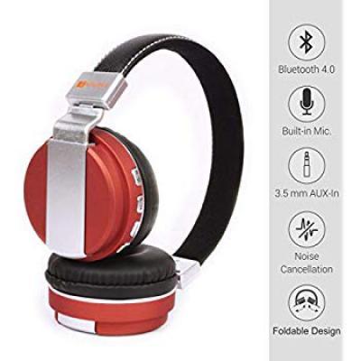 Laploma Hertz Wireless Bluetooth Headphone & Headsets with Mic with high Bass Sound, Bluetooth Headphones
