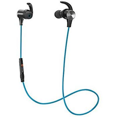 TaoTronics BH07 Sweatproof Bluetooth in-Ear Headphones with Mic - Blue