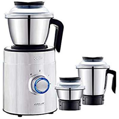 Cello Mixer Steelox - B Beta 1000w Steel Mixer Grinder with 3 Jars, Black and Silver
