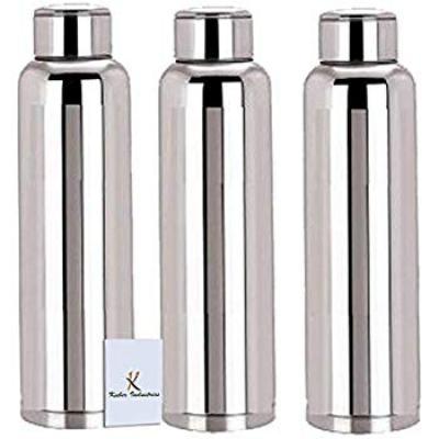 Nirlon Stainless Steel Bottle Set, 400ml, Set of 2, Silver