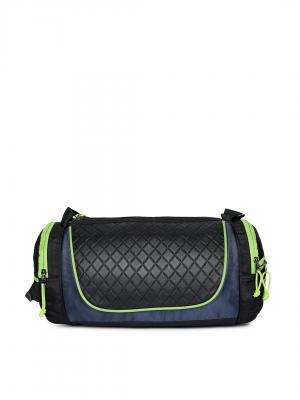 F Gear Unisex Black Textured Astir Duffel Bag